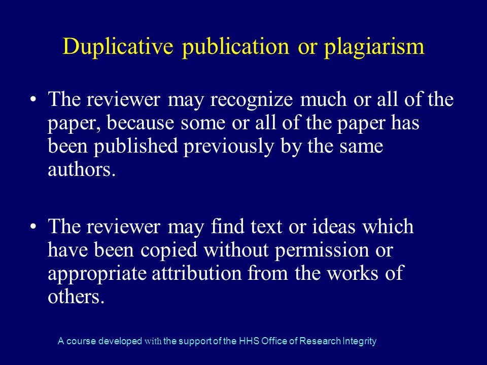 Duplicative publication or plagiarism