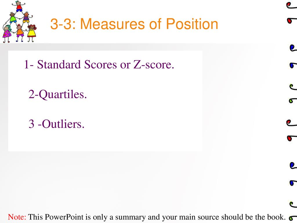 3-3: Measures of Position - ppt download