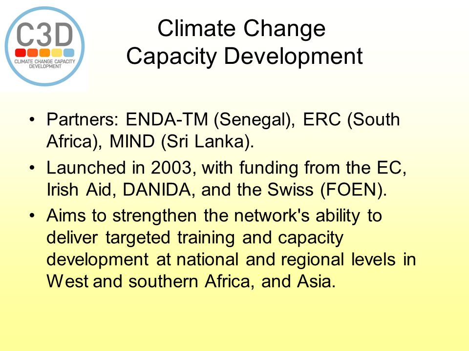 Climate Change Capacity Development