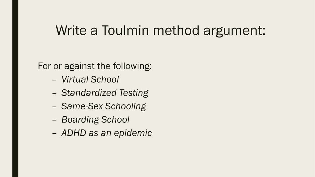 toulmin model of argumentation pdf