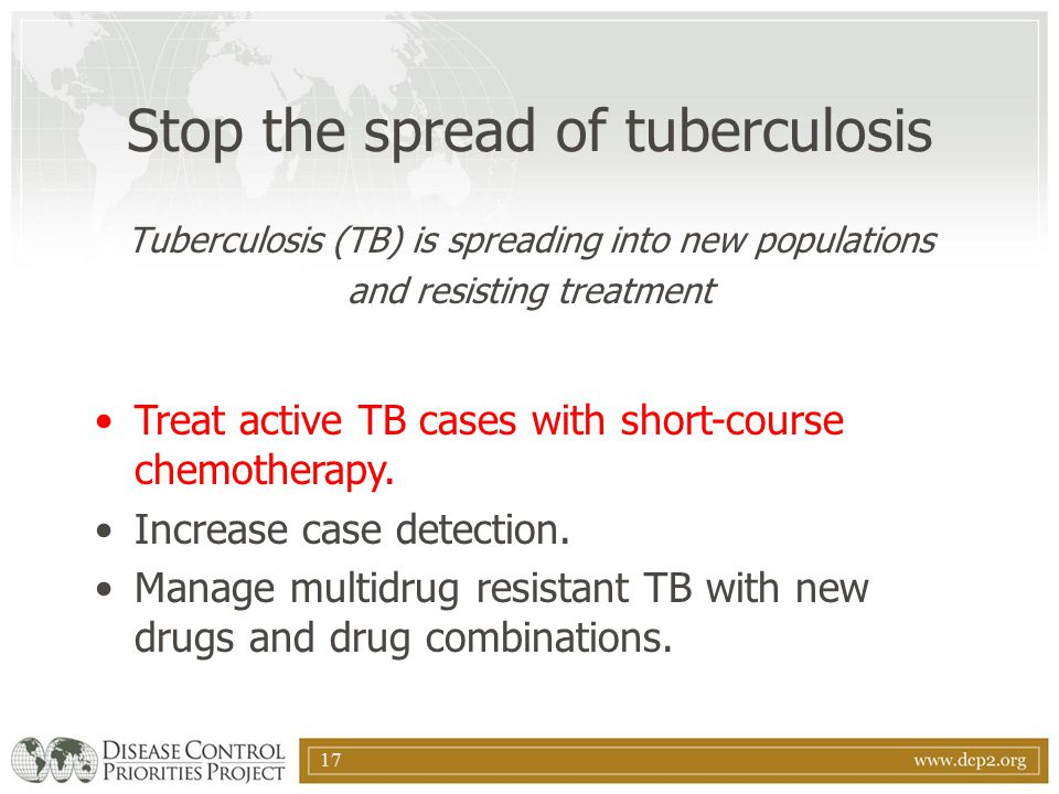Stop the spread of tuberculosis