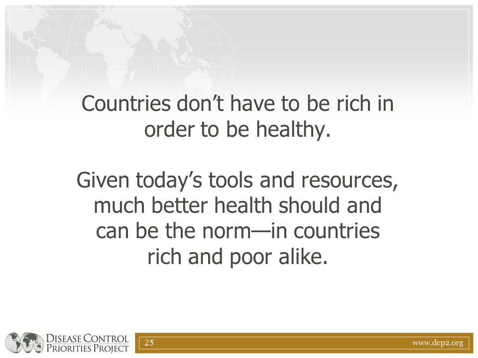 Countries don't have to be rich in order to be healthy