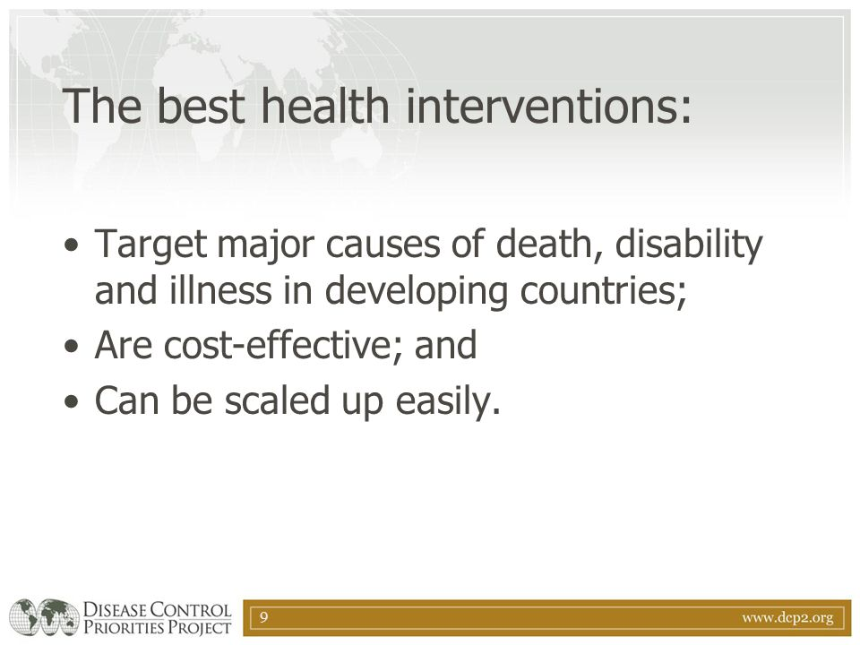 The best health interventions: