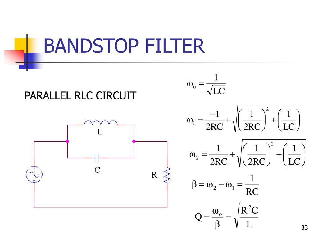Chapter 4 Resonance Circuits Ppt Download Band Stop Filter Circuit 33 Bandstop Parallel Rlc