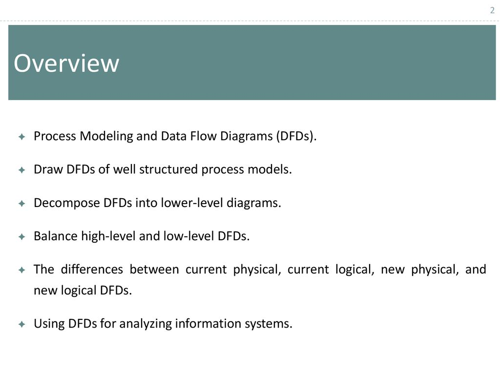 Chapter 1 Data Flow Diagram Structuring System Process Requirements Levels Overview Modeling And Diagrams Dfds