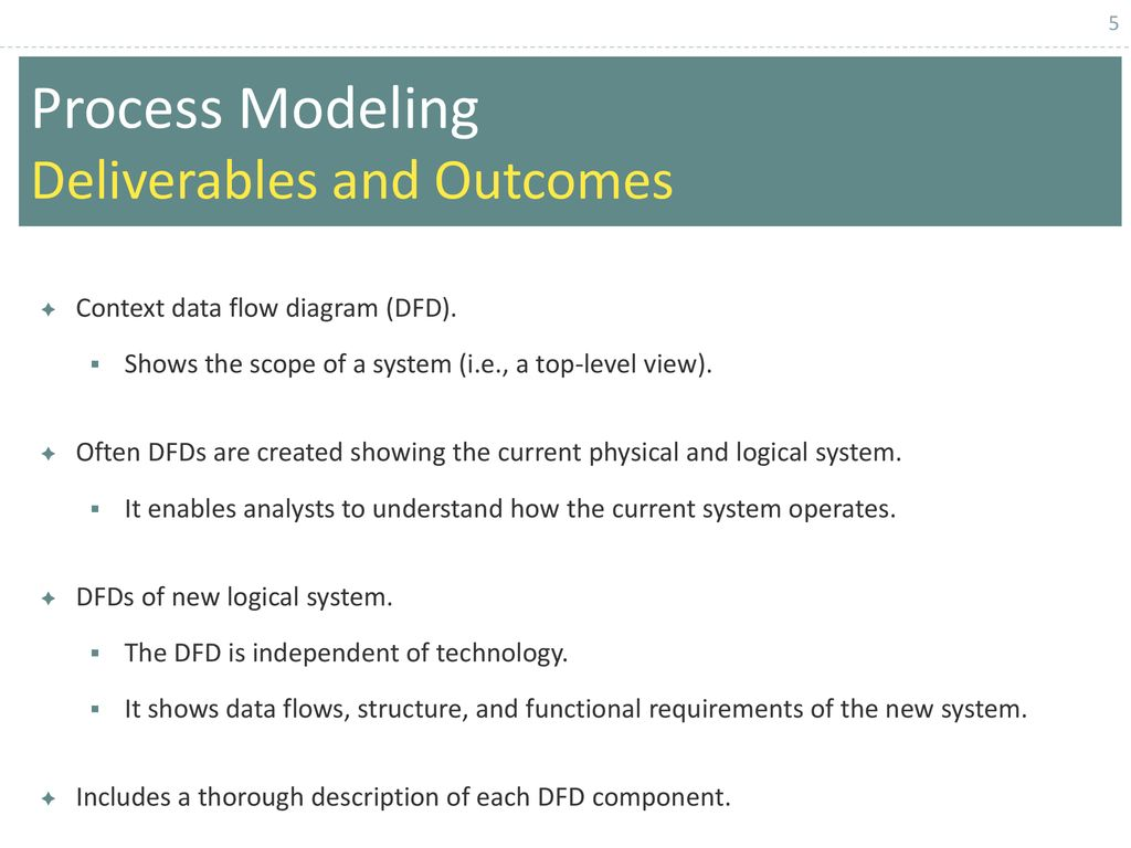 Chapter 1 Data Flow Diagram Structuring System Process Requirements Modeling Deliverables And Outcomes 6
