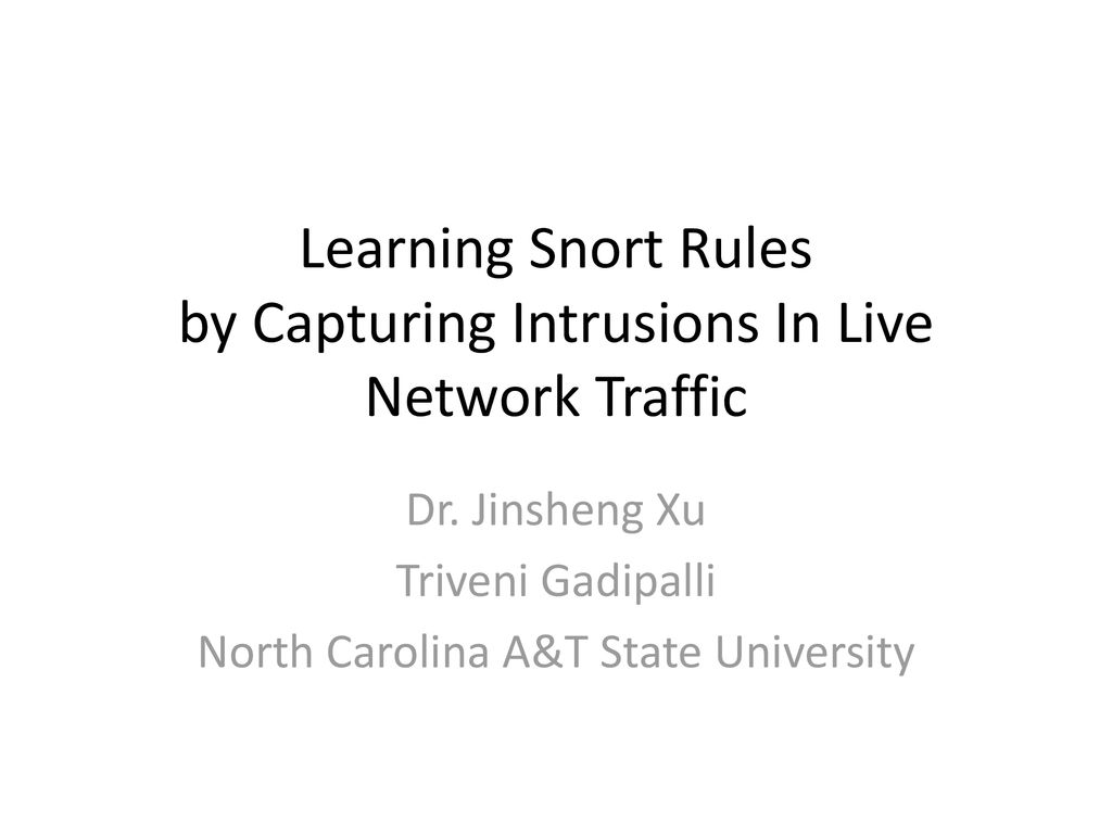 Learning Snort Rules by Capturing Intrusions In Live Network