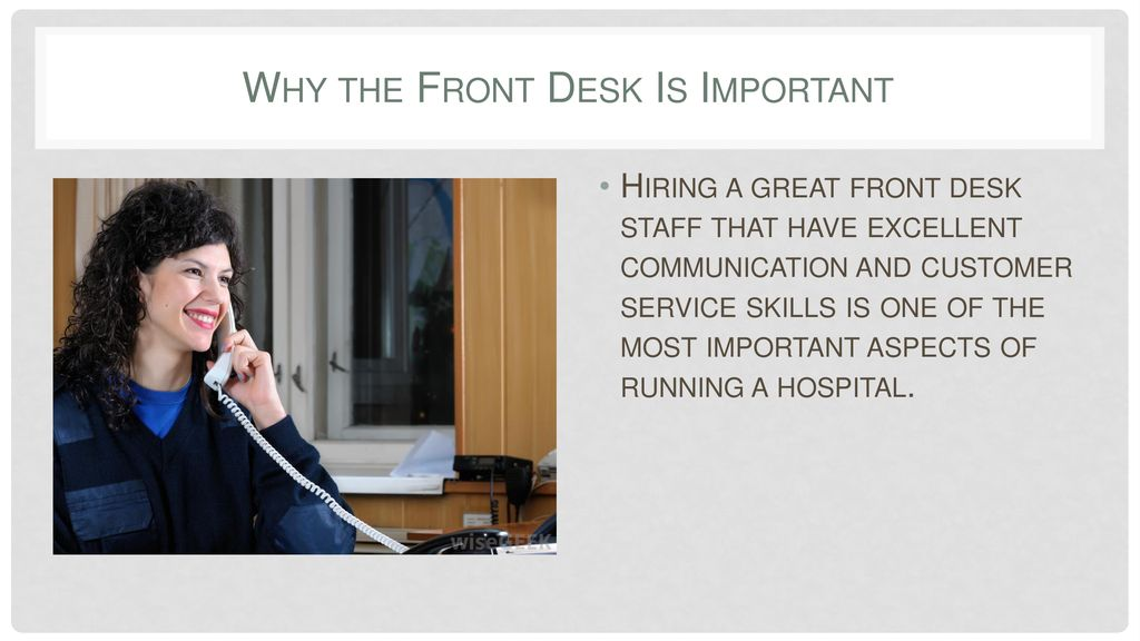 Front Desk Jobs In Hospitals