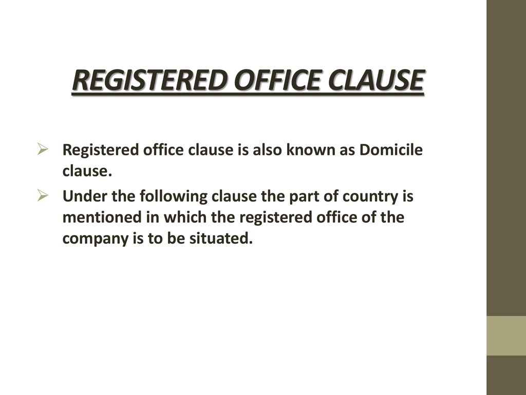 domicile clause