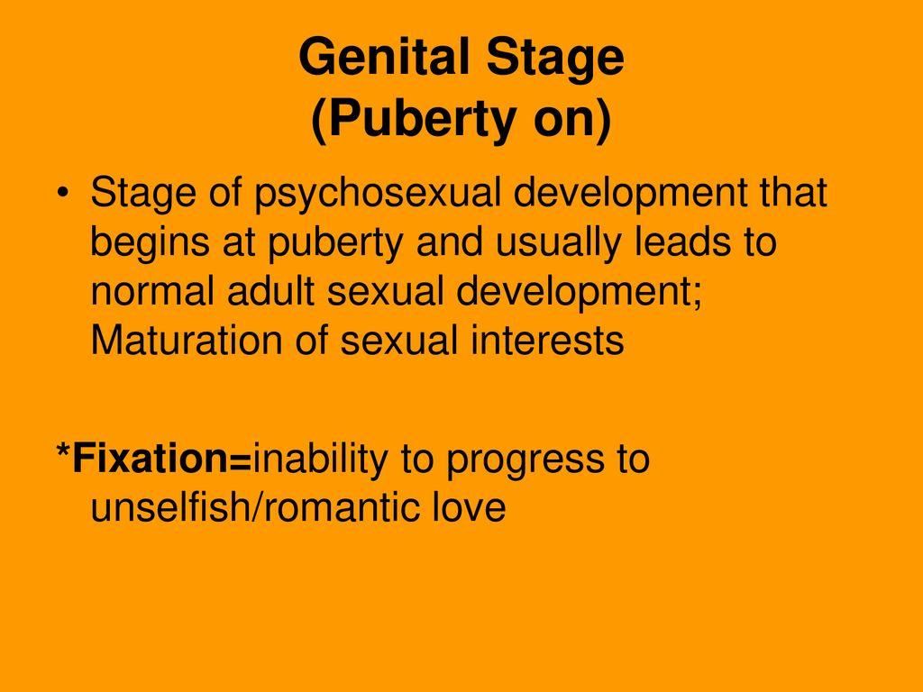 genital stage of psychosexual development
