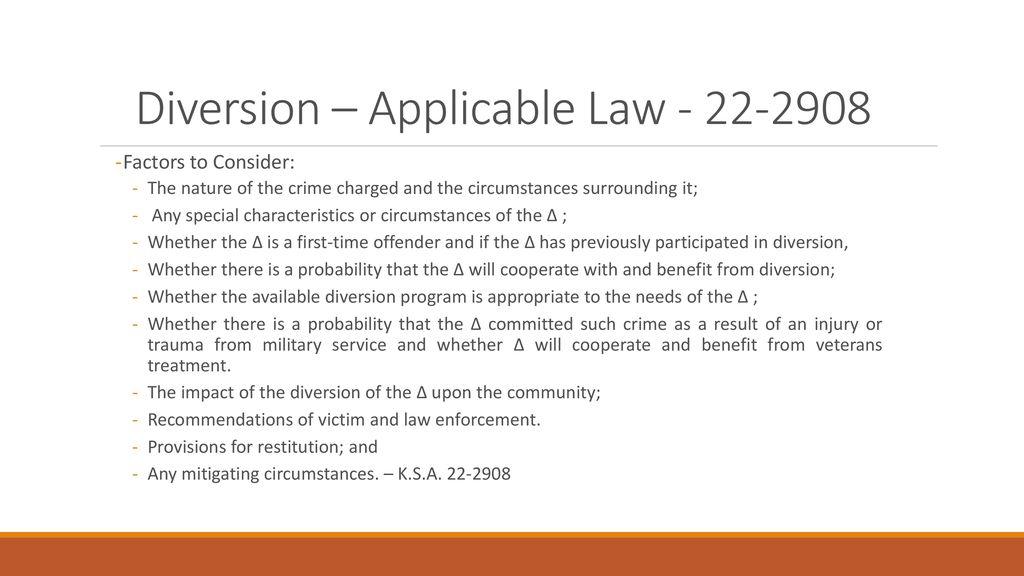 Criminal Diversion Program - ppt download