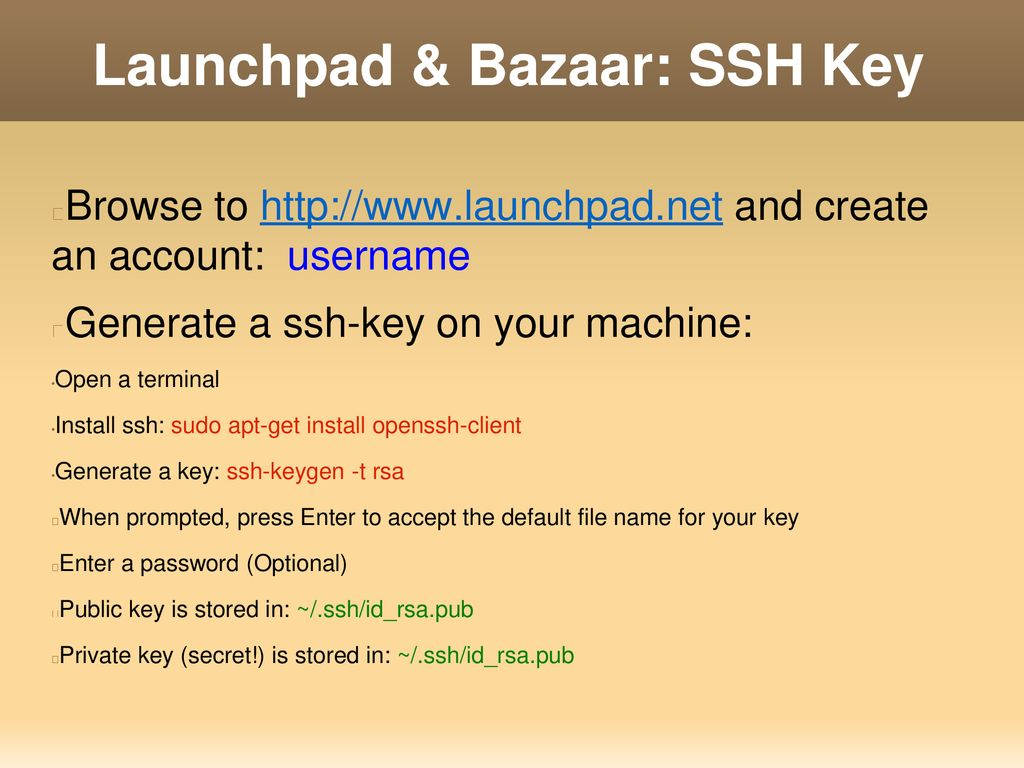 Launchpad & Bazaar Use Launchpad to work on team projects