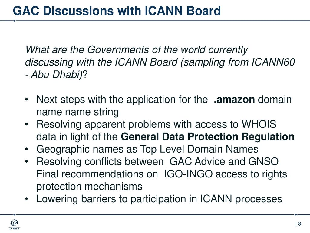 ICANN's Governmental Advisory Committee (GAC) - ppt download