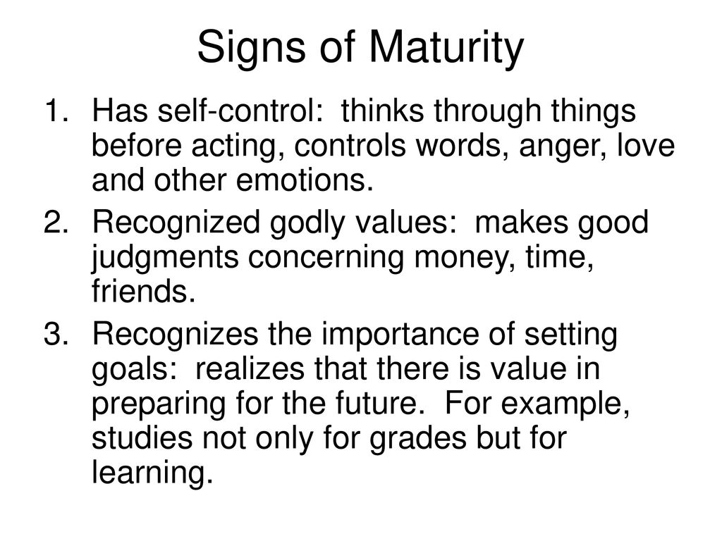 Other words for maturity