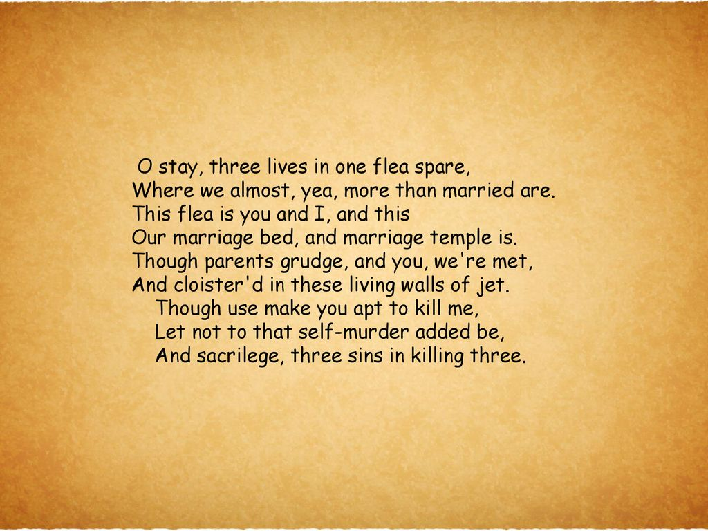 LO: to develop a critical response to the poem The Flea (AO1) - ppt ...