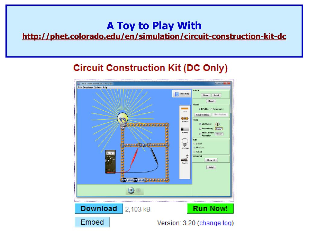 Phet Circuit Construction Kit Dc Only Resistors In Series And Parallel Ppt Download 55 A Toy To Play With
