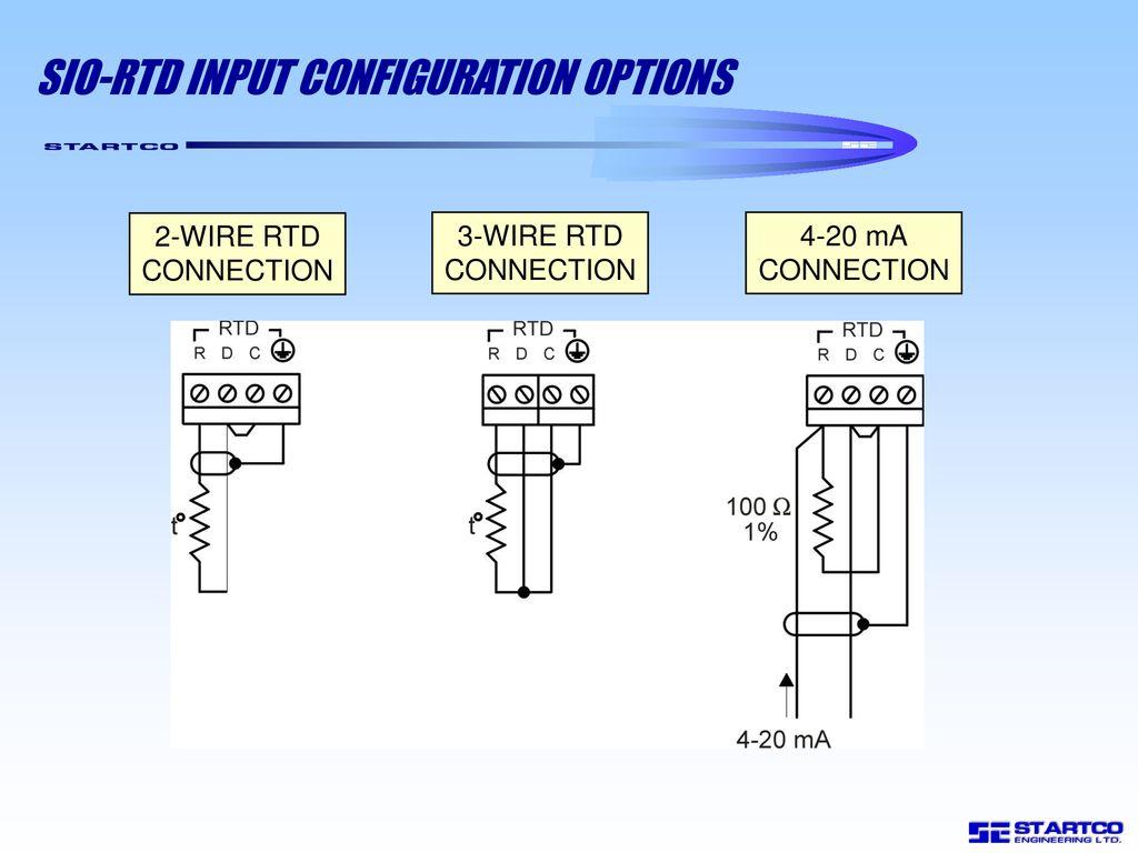 SIO-RTD INPUT CONFIGURATION OPTIONS