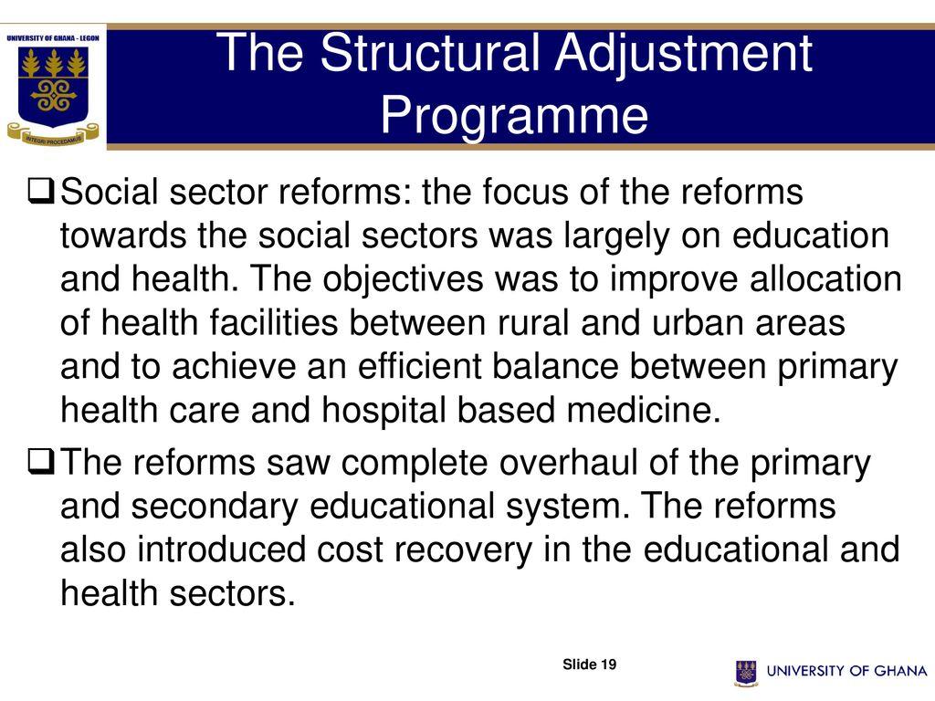 objectives of structural adjustment programme