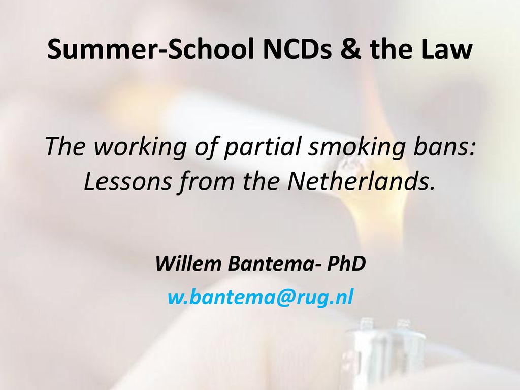 Summer-School NCDs & the Law - ppt download