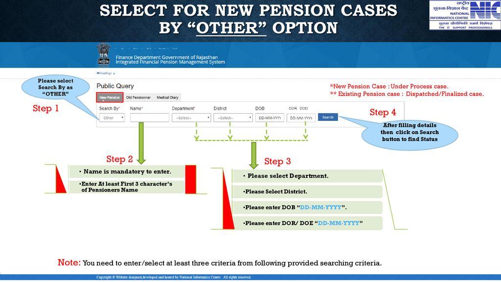 Rajasthan Civil Pensioner's Public View - ppt download