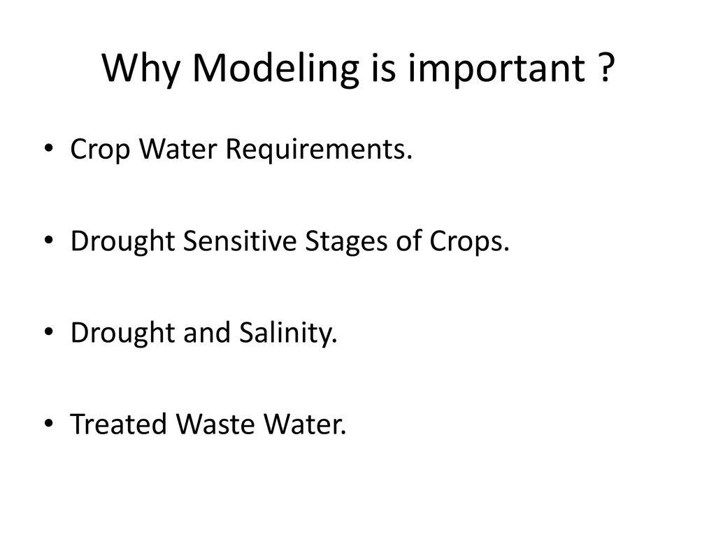 Irrigation Modeling for Crops Flood Irrigation & Forage
