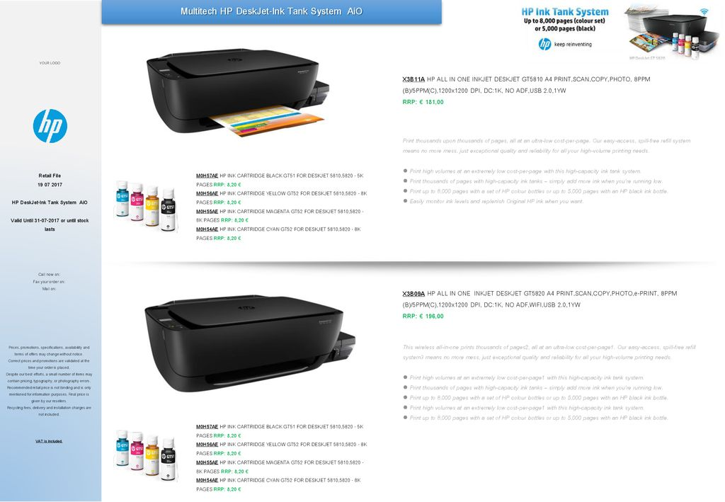 Multitech HP DeskJet-Ink Tank System AiO - ppt download