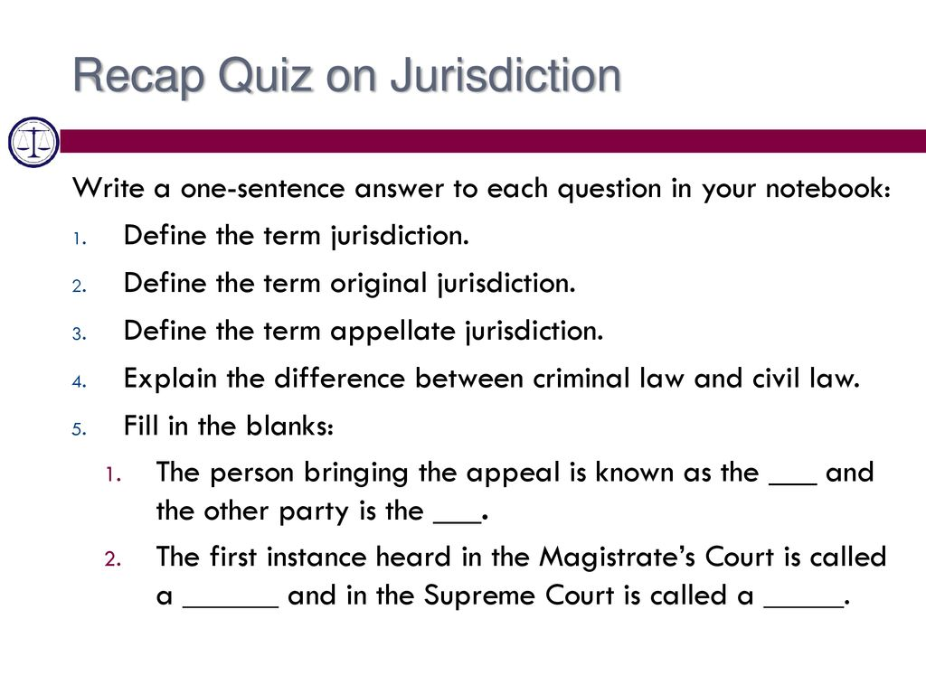 the term jurisdiction means