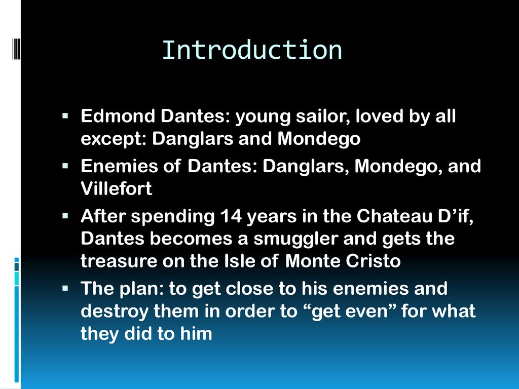 The Count Of Monte Cristo By Alexandre Dumas Ppt Download
