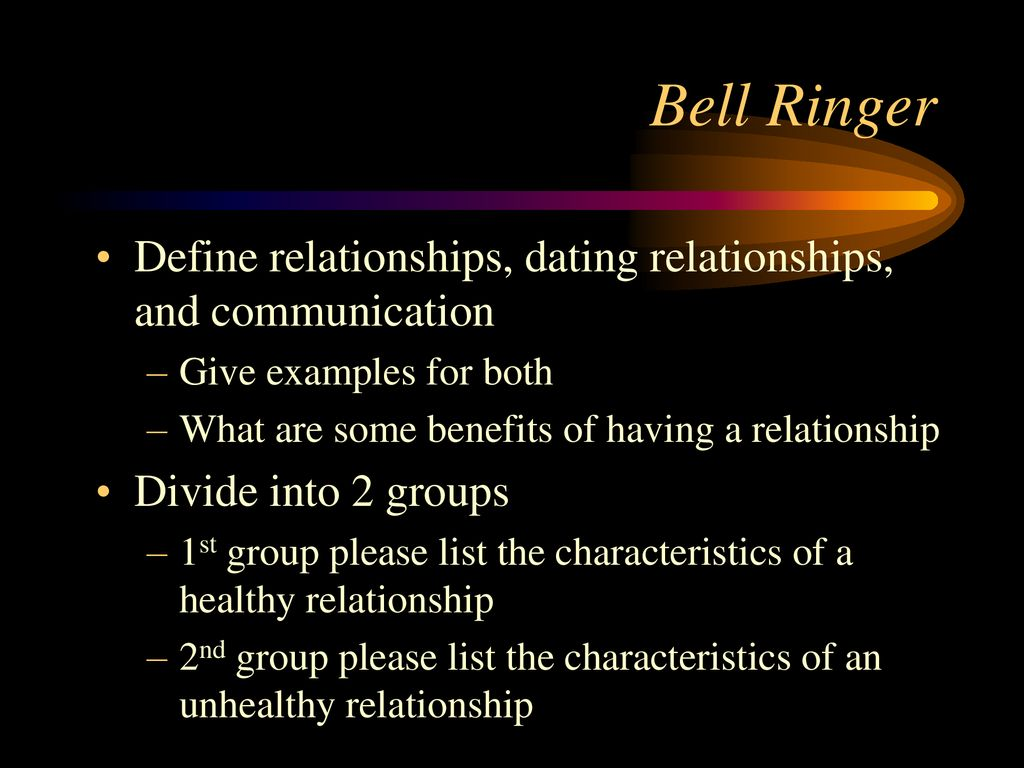 difference between having a relationship and dating
