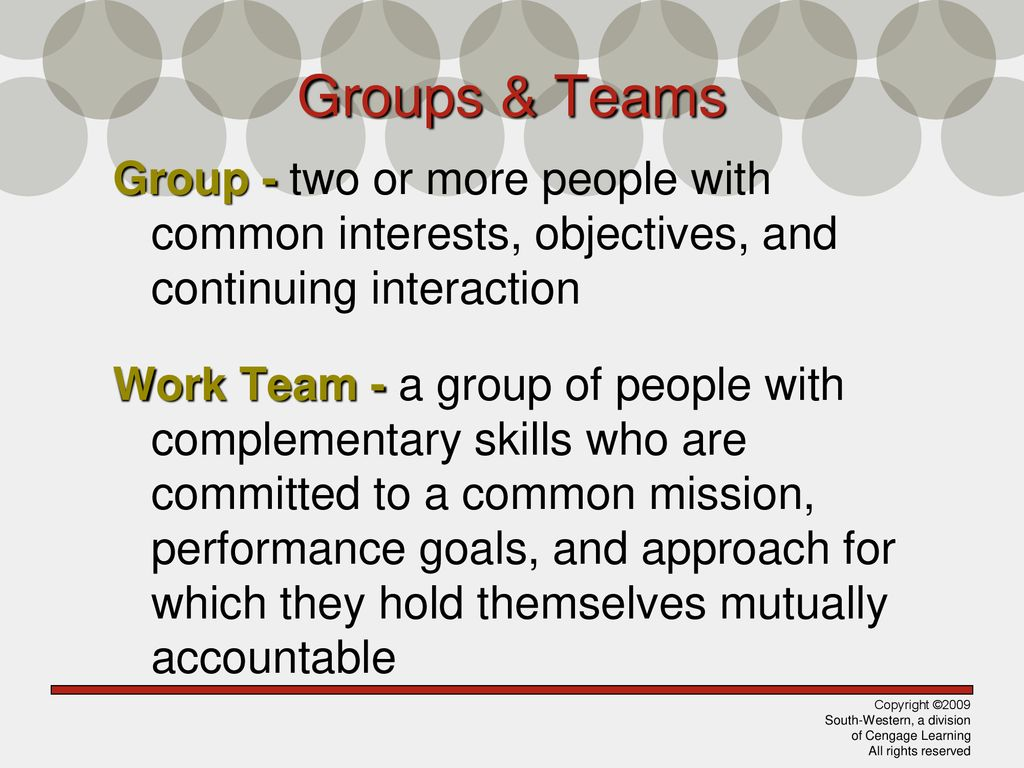 2 Groups ...