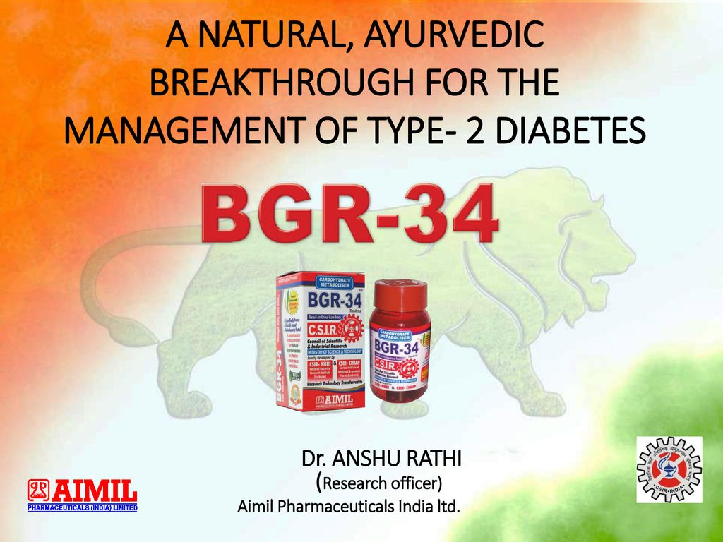 diabetes aimil pharma bgr 34