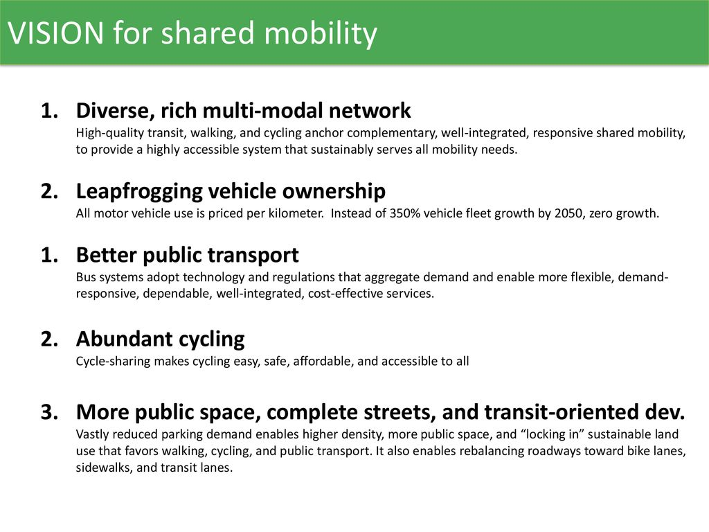 Private Shared Mobility - ppt download
