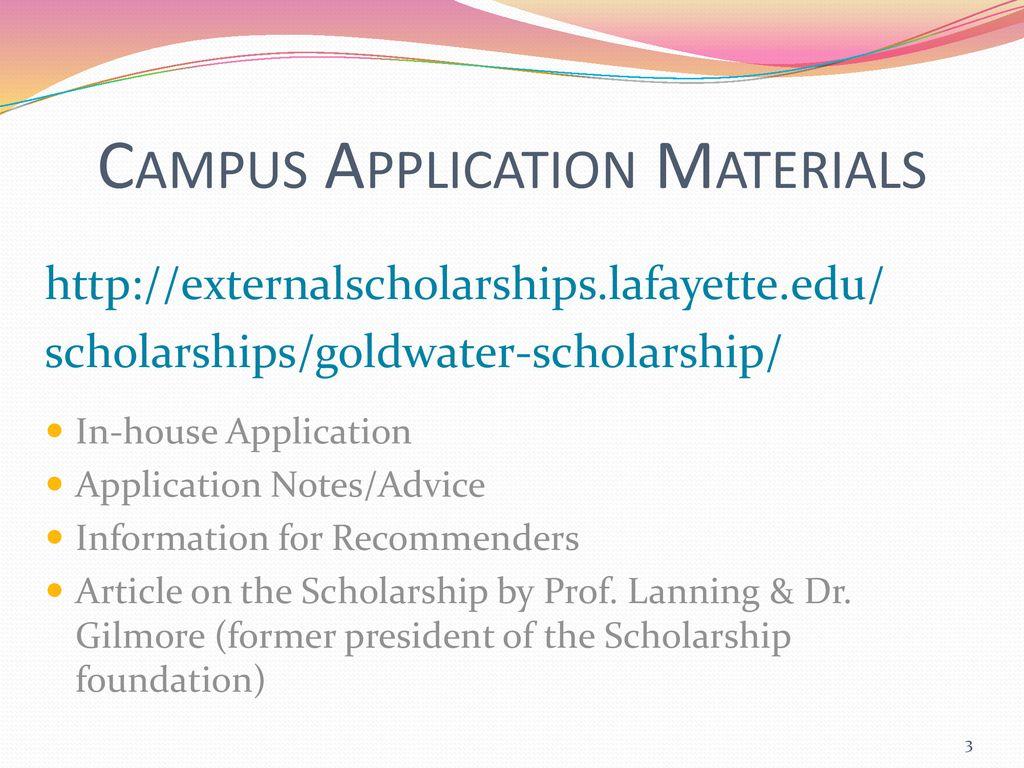 goldwater scholarship essay