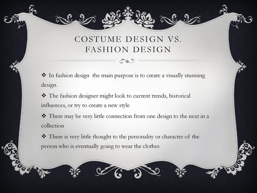 Costume Design For The Stage Ppt Download