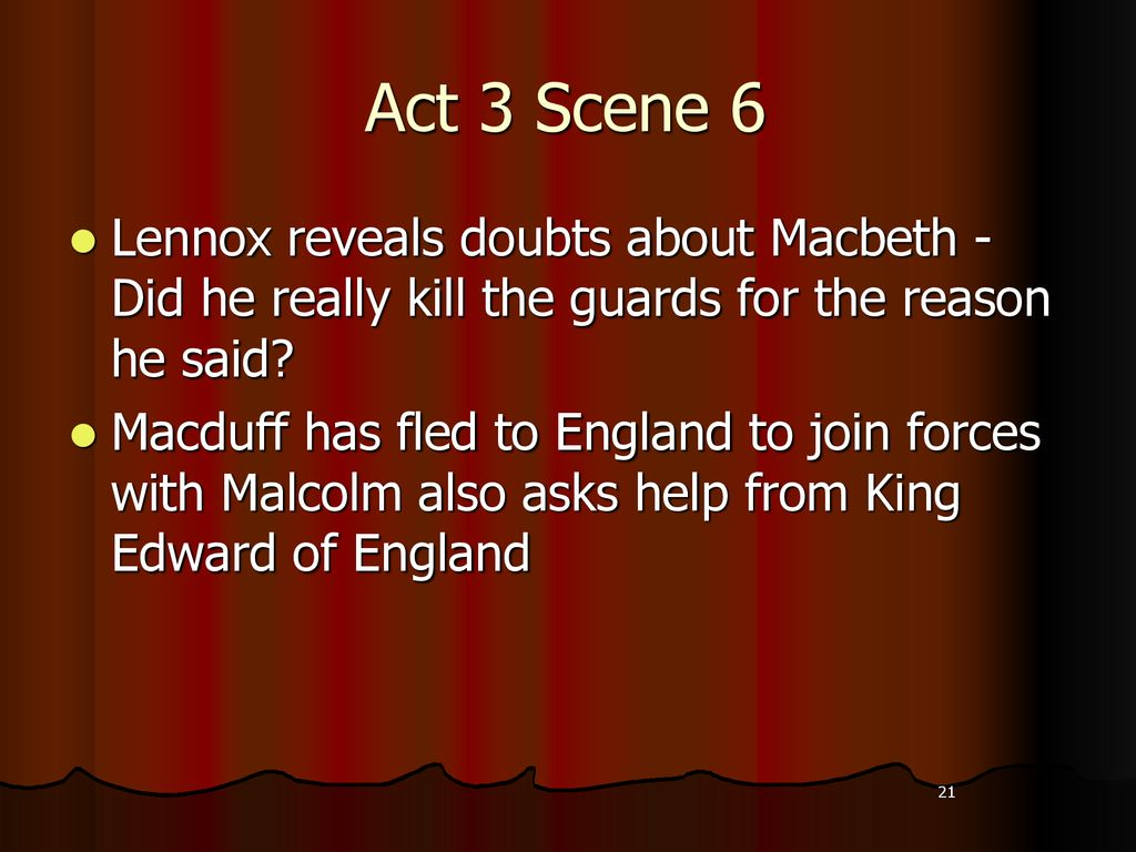 Scene By Review With Key Quote Theme Idea Ppt Download Macbeth Act 3 6 Analysis