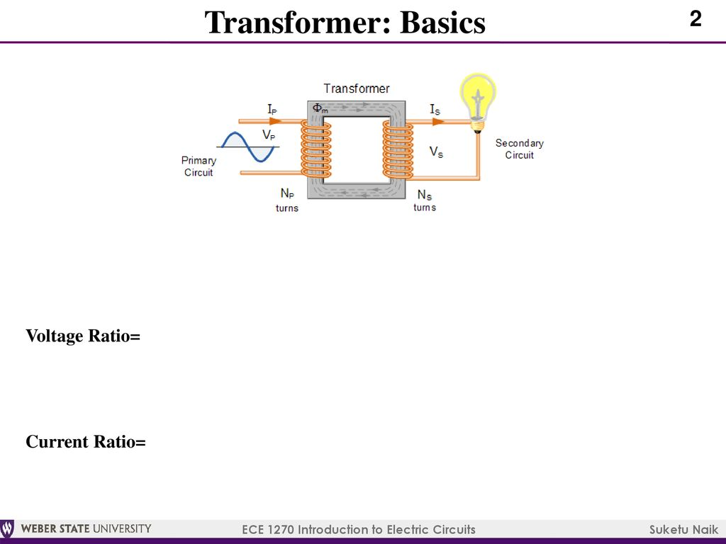 Ece 1270 Introduction To Electric Circuits Ppt Download Electronic Circuit Basics 3 Transformer Voltage Ratio Current