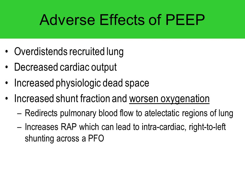 Adverse Effects of PEEP
