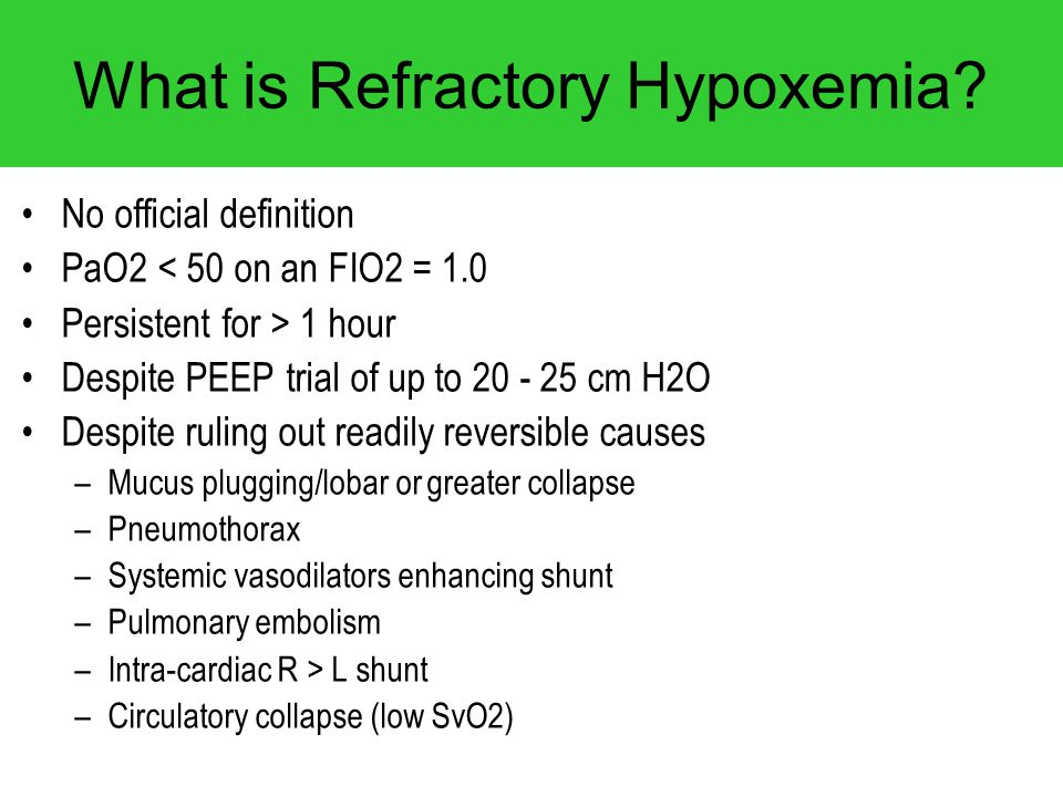 What is Refractory Hypoxemia