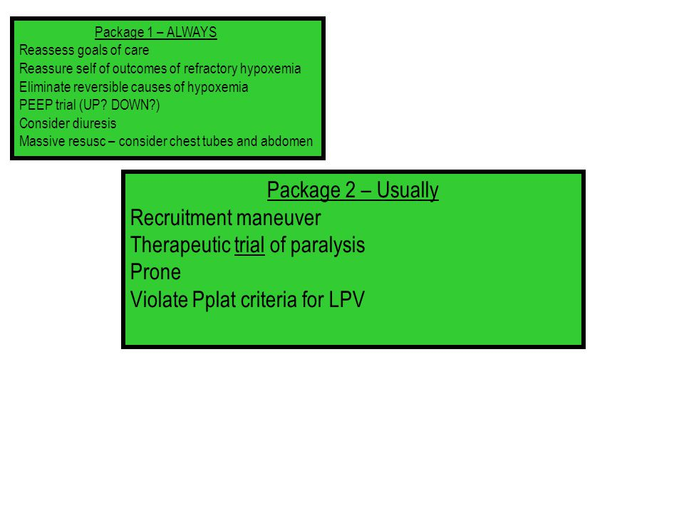 Therapeutic trial of paralysis Prone Violate Pplat criteria for LPV