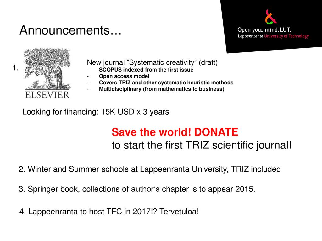 TRIZ in science  Reviewing indexed publications - ppt download