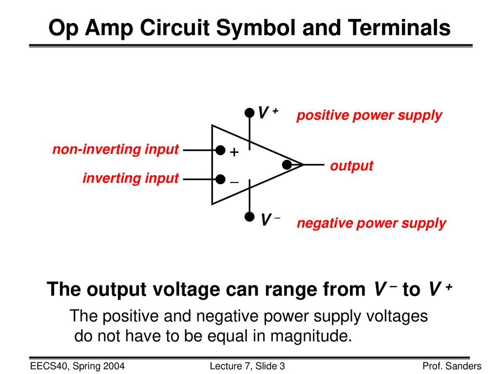 Complete Ch 2 Begin 14 Look At Ppt Download Negative Power Supply Circuit Op Amp Symbol And Terminals