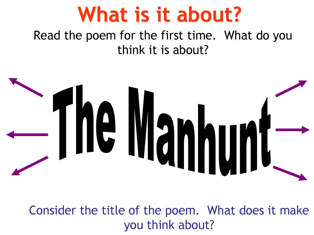 the manhunt poem