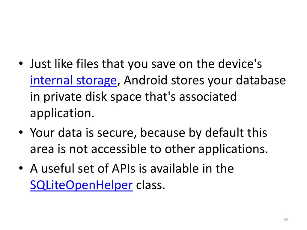 application data is not accessible
