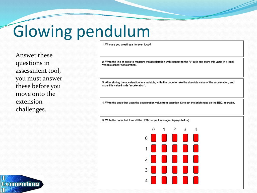Lesson 4 – Glowing pendulum - ppt download