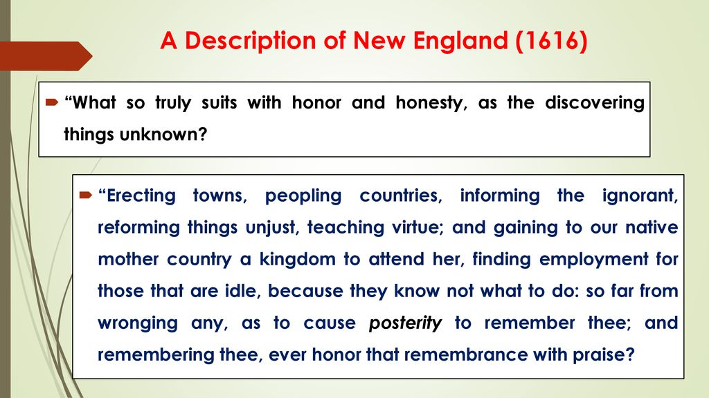from a description of new england