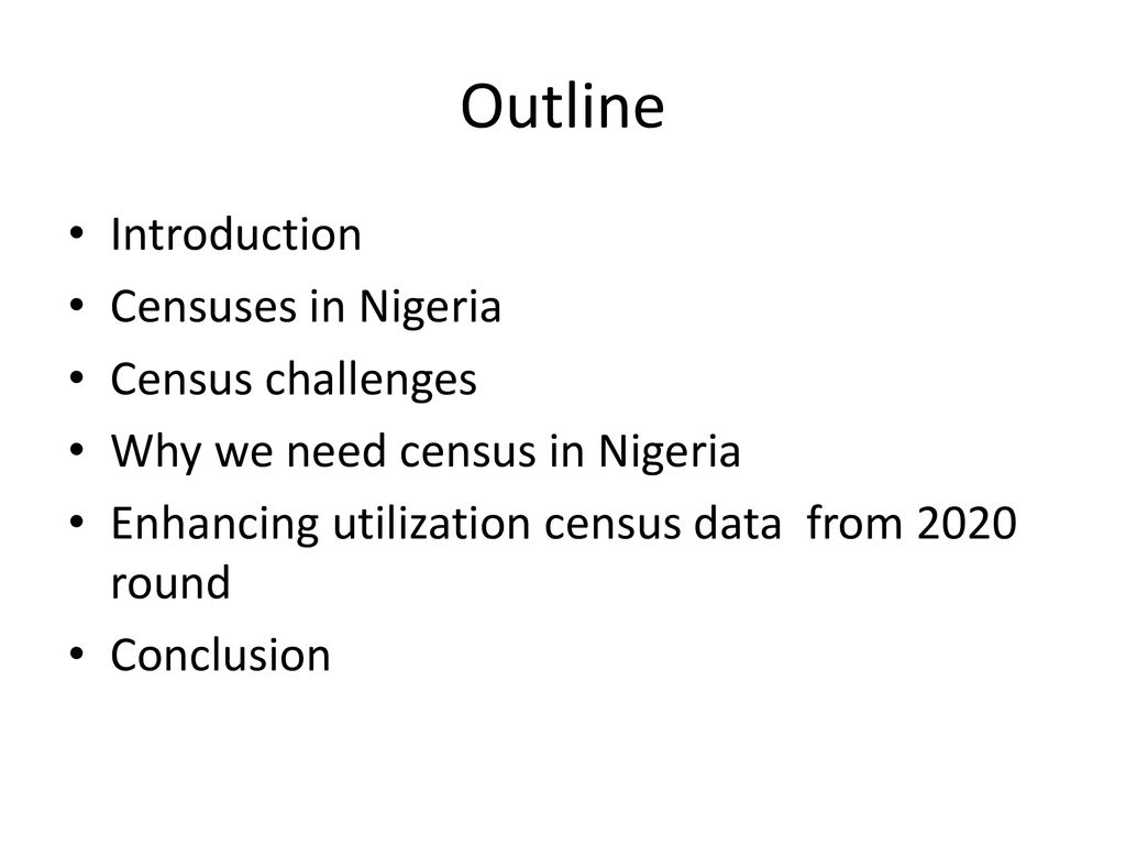 challenges of population census in nigeria