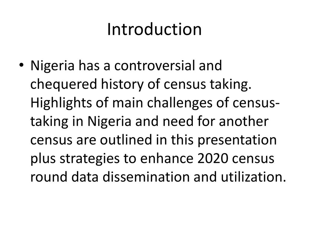 challenges of population census in nigeria