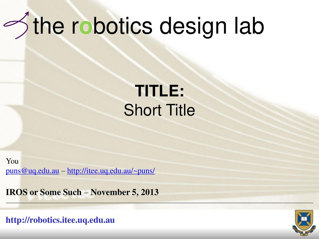 The Robotics Design Lab Ppt Download