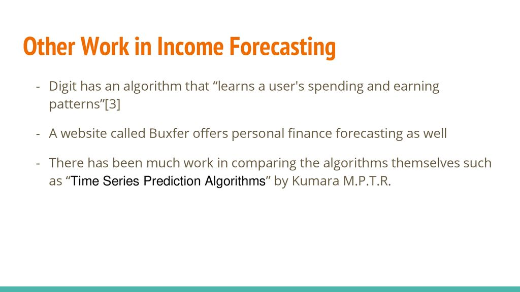 income forecasting ppt download
