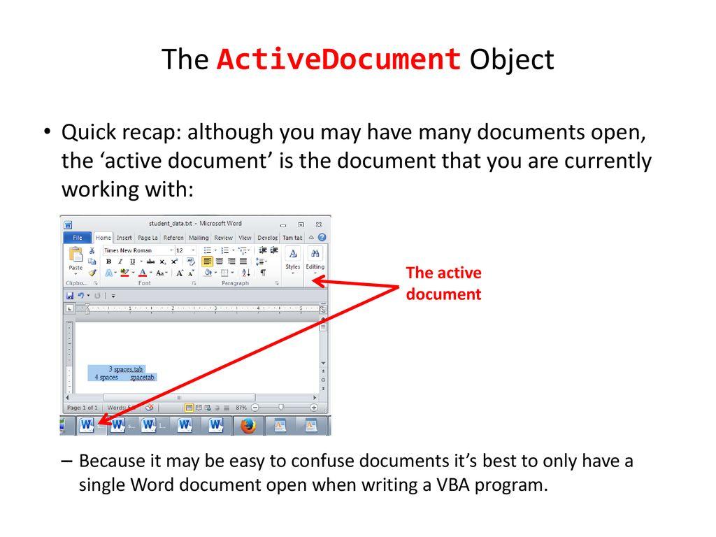 Vba Get Word Object